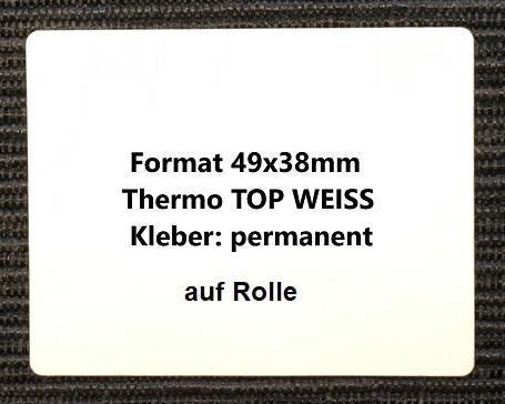 1 Rolle Thermo Etiketten Wei/ß 100x150 mm 500 St/ück je Rolle Kern 25 mm Thermo Etiketten auf Rolle mit Perforation aussen gewickelt permanent haftend selbstklebende Etiketten f/ür Thermodrucker